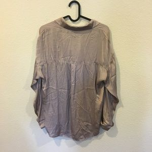 Lush Tops - Lush brown long sleeve collared shirt